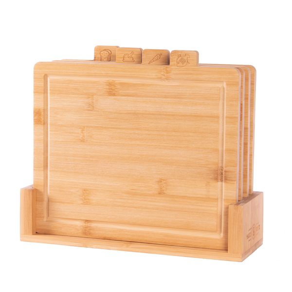 Bamboo Chopping Boards with Index Tabs - Set of 4 | M&W