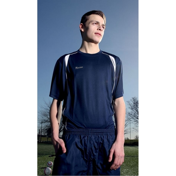Precision Ultimate Moisture Management Tee Navy/White 38-40inch