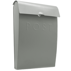 Outdoor Steel Mail Postbox | M&W Grey