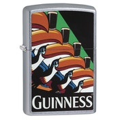 Zippo Guinness Toucans Street Chrome Finish Windproof Lighter