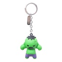 Marvel Comics Incredible Hulk Character 3D Pendant Rubber Keychain