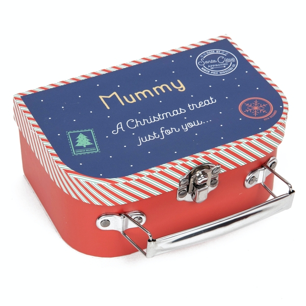 Mummy A Christmas Treat Just For You Suitcase Gift Box