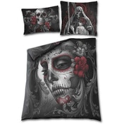 Skull Roses Double Duvet Cover + Pillow Case