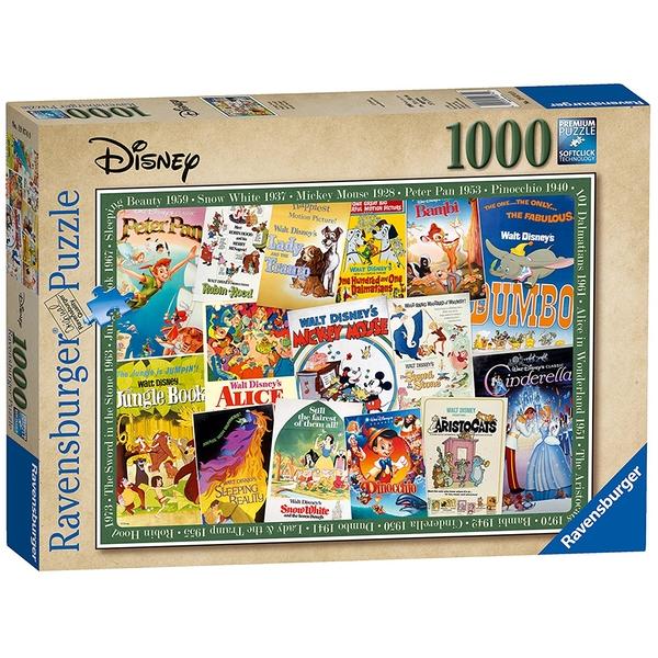 Ravensburger Disney Vintage Movie Posters 1000 Piece Jigsaw Puzzle [Damaged Packaging]