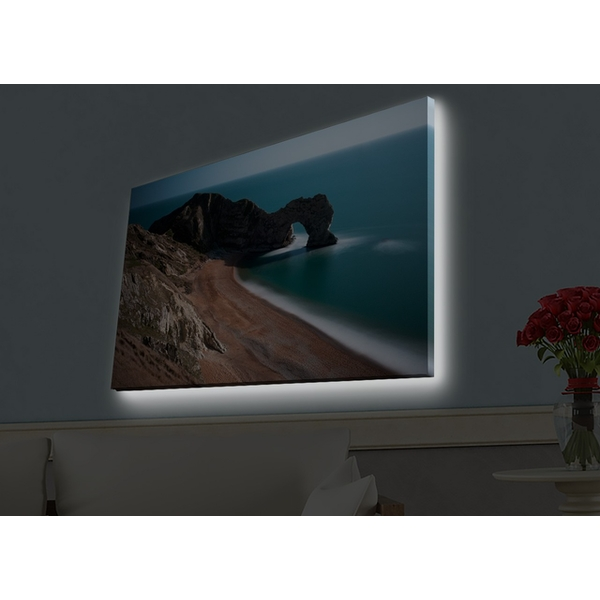 4570HDACT-001 Multicolor Decorative Led Lighted Canvas Painting