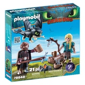 Playmobil DreamWorks Dragons Hiccup and Astrid with Baby Dragon