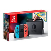 Nintendo Switch Console with Neon Joy-Con Controllers + £30 Nintendo eShop Voucher