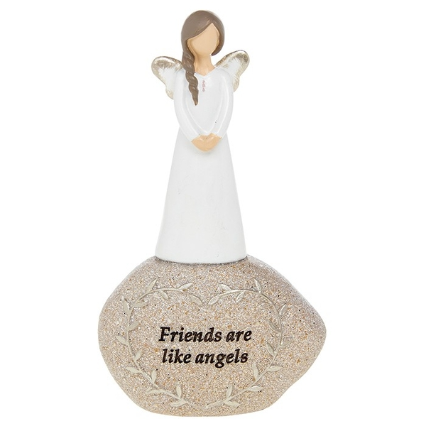 Stone Sentiment Angel Friends Ornament