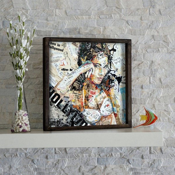 KZM274 Multicolor Decorative Framed MDF Painting