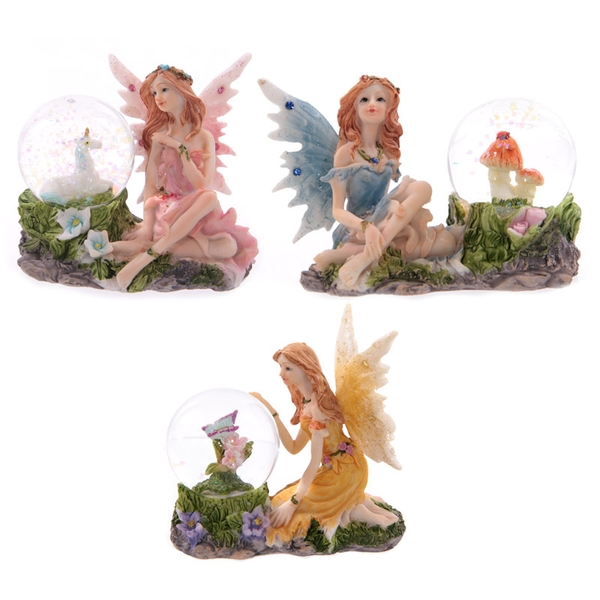 Glitter Flower Fairy Waterball Ornament (1 Random)