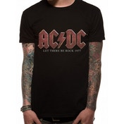 Ac/dc - Vintage Let There Be Rock Men's Large T-Shirt - Black