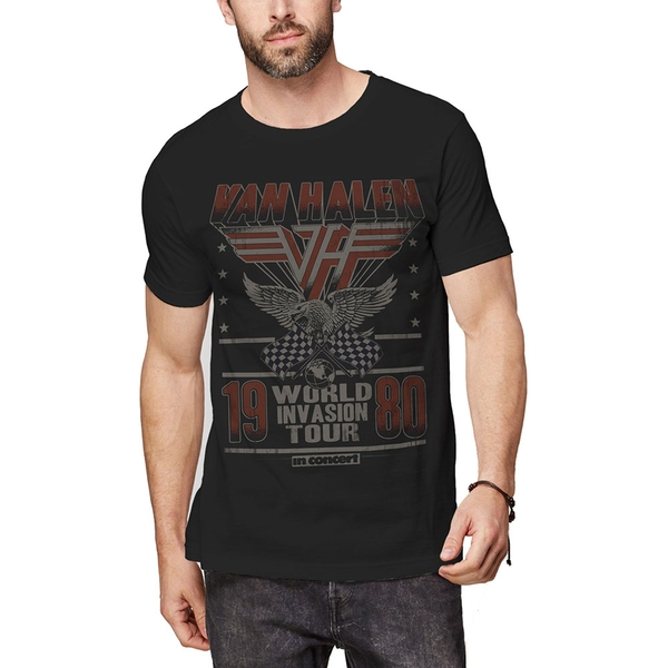 Van Halen - Invasion Tour '80 Men's Large T-Shirt - Black