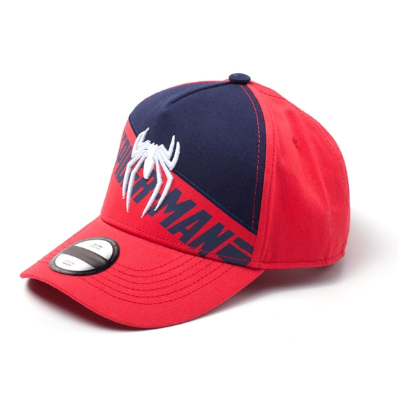 Marvel Comics - Ps4 Embroidered Logo Print Unisex Pop-Lock Fitting Strap Cap - Red/Blue