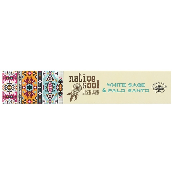 Green Tree Native Soul White Sage & Palo Santo Incense Sticks