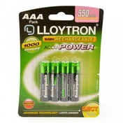 Lloytron B014 Rechargeable Accupower AAA Ni-MH Batteries 550mAh 4 Pack