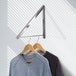 Wall Mounted Folding Clothes Hanger M&W Single - Image 2