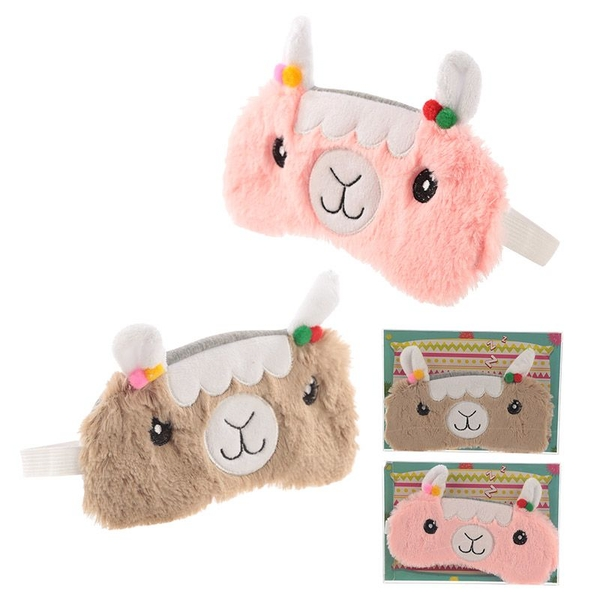 Plush Llama Eye Mask (1 Random Supplied)
