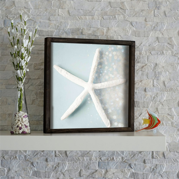 KZM569 Brown Mint White Grey Decorative Framed MDF Painting