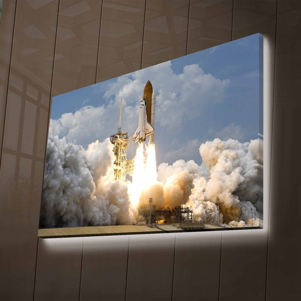 NASA-032 Multicolor Decorative Led Lighted Canvas Painting