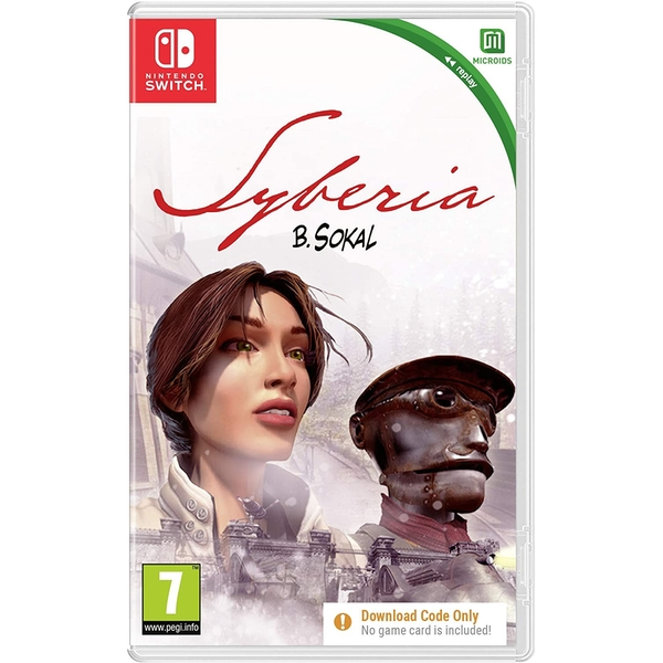 Syberia Nintendo Switch Game [Code in a box]