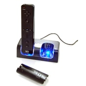 Twin Remote Charger Dock Black Wii