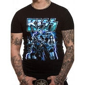 KISS - Lightning Men's XXX-Large T-Shirt - Black