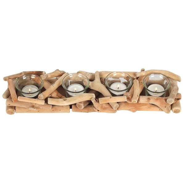 Driftwood 4 Piece Candle Holder