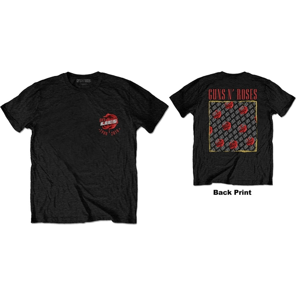 Guns N' Roses - Lies Repeat/30 Years Men's X-Large T-Shirt - Black