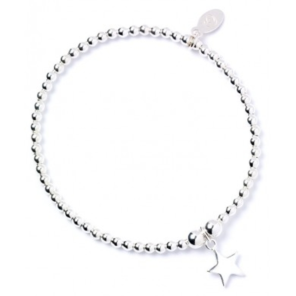 Star Charm Sterling Silver Ball Bracelet