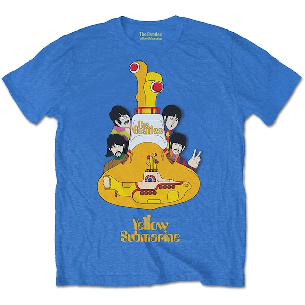 The Beatles - Yellow Submarine Sub Sub Men's Large T-Shirt - Mid Iris Blue