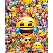 Emoji Collage Mini Poster
