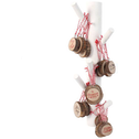 Set of 30 Wooden Christmas Tree Decoration With Display