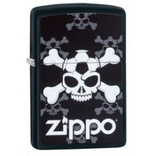 Zippo Jolly Roger Soccer Black Matte Windproof Lighter