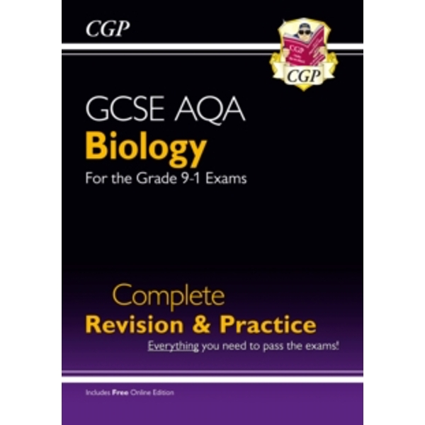 New Grade 9-1 GCSE Biology AQA Complete Revision & Practice with Online Edition by CGP Books (Paperback, 2016)