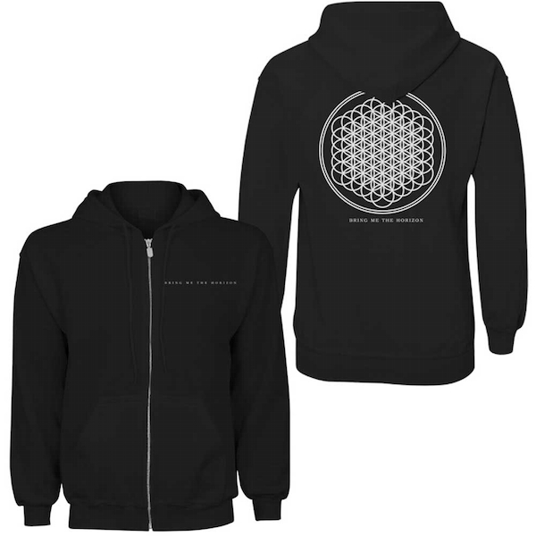 Bring Me The Horizon - Flower of Life Ladies Medium Hoodie - Black