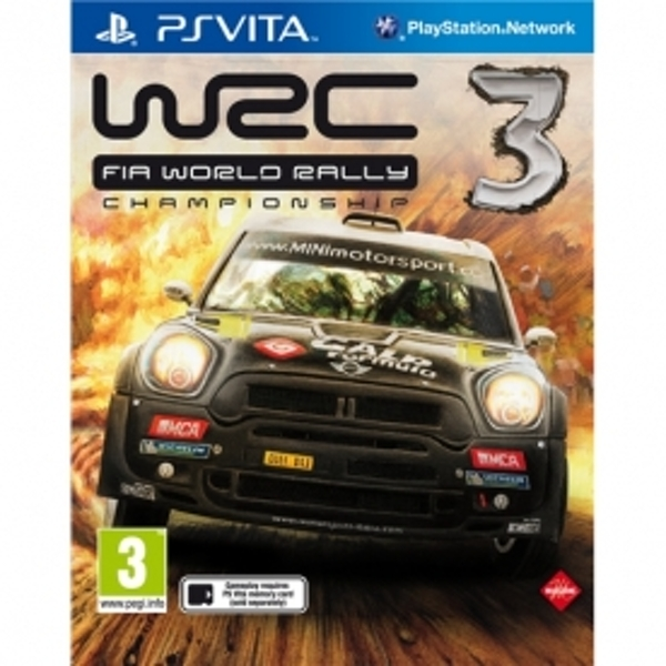 WRC FIA World Rally Championship 3 Game PS Vita