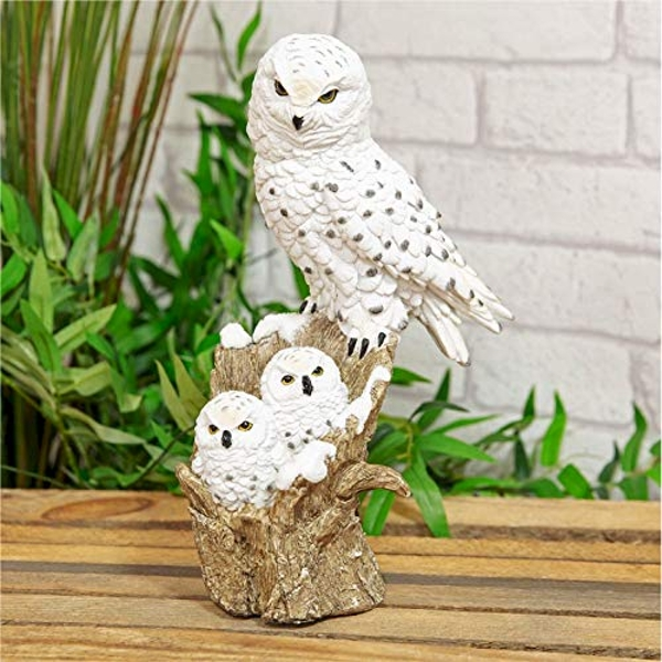 Naturecraft Collection - Snowy Owl & Owlets Figurine