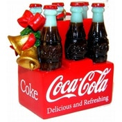 Coca Cola 6 Pack Christmas Tree Ornament