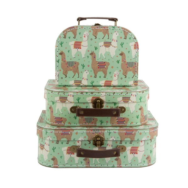 Sass & Belle Lima Llama Suitcases (Set of 3)