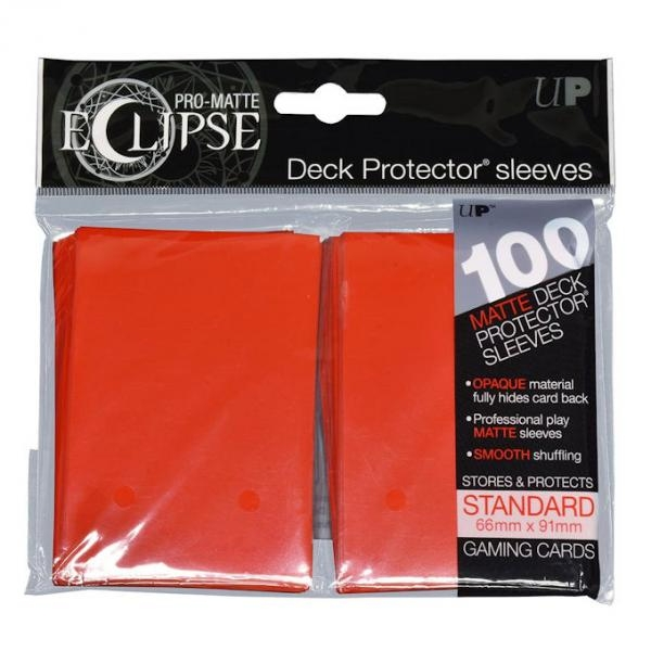 Ultra Pro Eclipse PRO-Matte Apple Red Standard 100 Sleeves (case of 6)