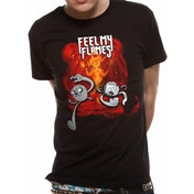 Adventure Time - Feel My Flames Men's Small T-Shirt - Black