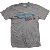 Guardians of the Galaxy Vol. 2 Vintage Logo Men's X-Large T-Shirt - Grey