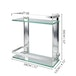 Tempered Glass Shelf with Aluminium Rail | M&W 2 Tier - Image 5