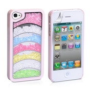 YouSave Accessories iPhone 4 Rainbow Case - Baby Pink