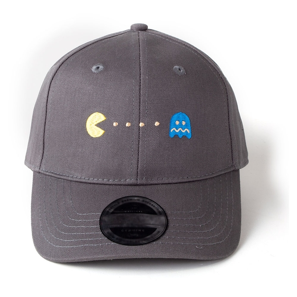 Pac-Man - Embroidered Pac-Man And Ghost Unisex Dad Cap - Grey