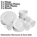16 Piece White Dinner Set | M&W - Image 5