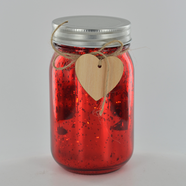 LED Firefly Jar Red H13cm