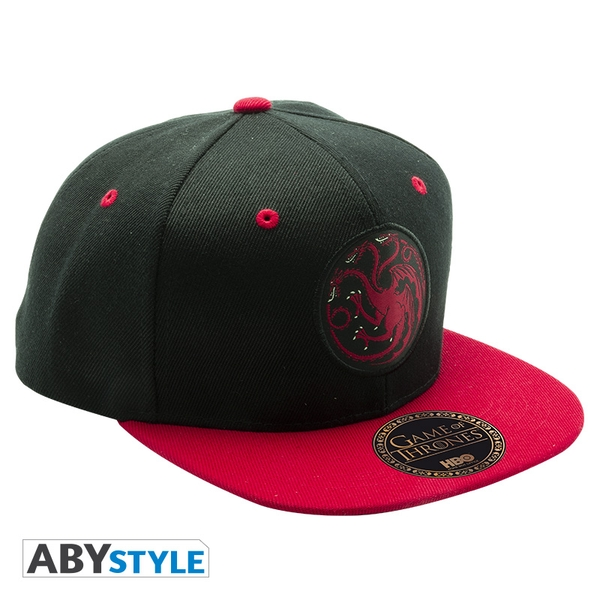 Game Of Thrones - Black & Red - Targaryen Snapback Cap