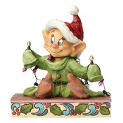 Light Up The Holidays Dopey (Snow White) Disney Traditions Figurine