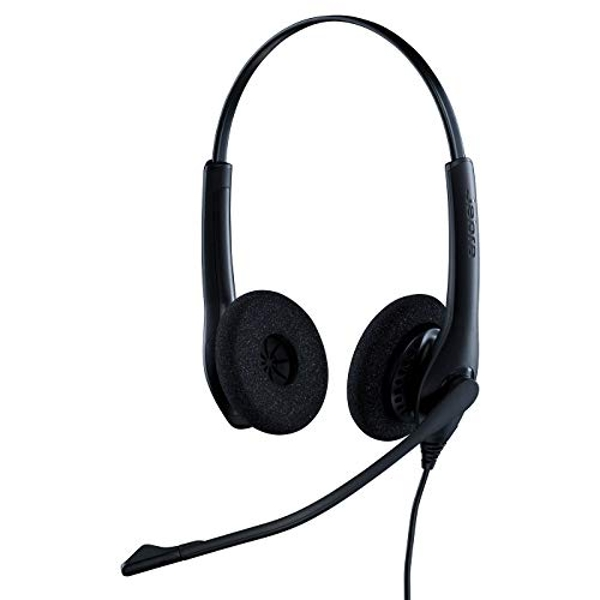 Image of Jabra Biz 1500 Quick Disconnect On-Ear Stereo Headset - Corded Headphone with Noise-cancelling Microphone and Volume Spike...